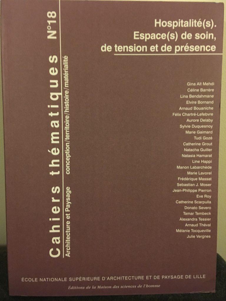 Couverture de la publication Hospitalité(s). Espace(s) de soin, de tension et de présence